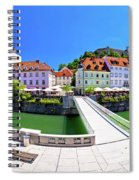 Green Ljubljana Riverfront Panoramic View Spiral Notebook