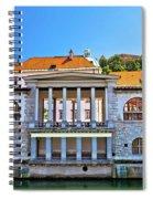 Green Ljubljanica Riverfront In Ljubljana Spiral Notebook