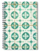 Green Lucky Charm Lisbon Tiles Spiral Notebook