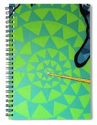 Green Map Of Michigan With And Arrow Pointing To Lansing Michiga Spiral Notebook