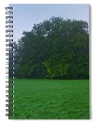 Green Meadow In Autumn Spiral Notebook