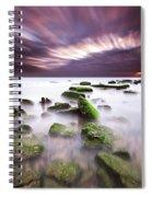 Green Motion Spiral Notebook
