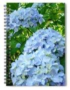 Green Nature Landscape Art Prints Blue Hydrangeas Flowers Spiral Notebook