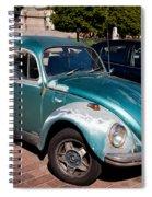 Green Old Vintage Volkswagen Car Spiral Notebook