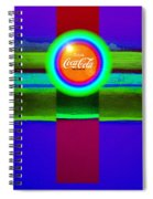 Green On Violet Spiral Notebook