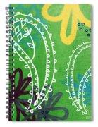 Green Paisley Garden Spiral Notebook