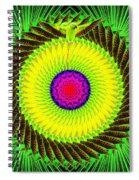 Green Parrot Mandala Spiral Notebook