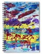 Green Pastures And Purple Mountains Spiral Notebook