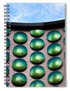Green Polka-dot Curve Spiral Notebook