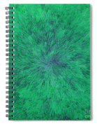 Green Radation With Violet  Spiral Notebook
