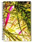Green Rain Drops Spiral Notebook