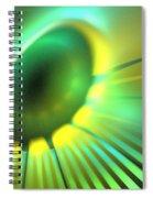 Green Rays Spiral Notebook