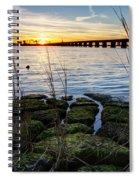 Green Rock Sunset Spiral Notebook