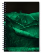 Green Rose Spiral Notebook