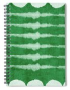 Green Shibori 3- Art By Linda Woods Spiral Notebook