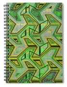 Green Steps Abstract Spiral Notebook