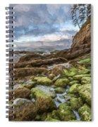 Green Stone Shore II Spiral Notebook