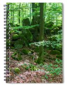 Green Stony Forest In Vogelsberg Spiral Notebook