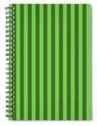 Green Striped Pattern Design Spiral Notebook