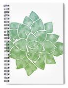 Green Succulent 1- Art By Linda Woods Spiral Notebook