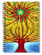Green Sun Spiral Notebook