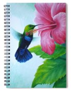 Green-throated Carib And Pink Hibiscus Spiral Notebook