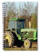 Green Tractor Spiral Notebook