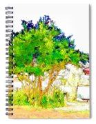 Green Trees By The Lake Spiral Notebook