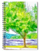 Green Trees By The Water 3 Spiral Notebook