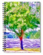 Green Trees By The Water  5 Spiral Notebook