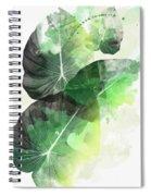 Green Tropical Spiral Notebook