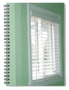 Green Wall White Window Spiral Notebook