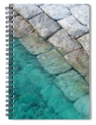 Green Water Blocks Spiral Notebook