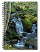 Green Waterfall Spiral Notebook