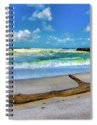 Green Waves Spiral Notebook
