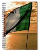 Flag Of Ireland At The Cliffs Of Moher Spiral Notebook