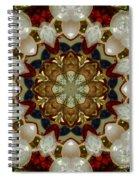 Green White Red Blue Kaleidoscope 1 Spiral Notebook