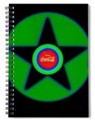 Green With Blue Spiral Notebook