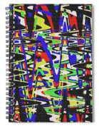 Green Yellow Blue Red Black And White Abstract Spiral Notebook