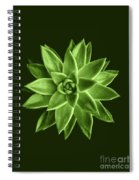Greenery Succulent Echeveria Agavoides Flower Spiral Notebook