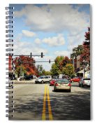 Greensboro Georgia Corner Of Main Street And Broad Street Fall Leaves Greensboro Georgia Art Spiral Notebook