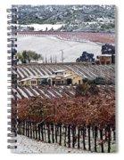 Greenville Vineyard In Snow Spiral Notebook