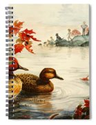 Greenwinged Teal Ducks Spiral Notebook