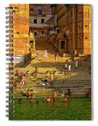 Greeting The Sun Spiral Notebook