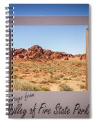 Greetings From Valley Of Fire Spiral Notebook