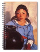 Gregorita With The Santa Clara Bowl 1917 Spiral Notebook