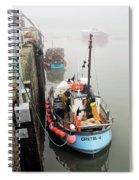 Gretel-k In The Fog - Lyme Regis Spiral Notebook
