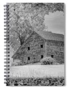 Grey Barn On A Grey Day Spiral Notebook