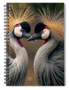 Grey Crowned Cranes Of Africa Spiral Notebook