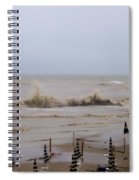 Grey Day At The Beach Spiral Notebook